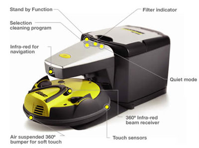 Robocleaner Base Station Self Emptying Robotic Vacuum Charger